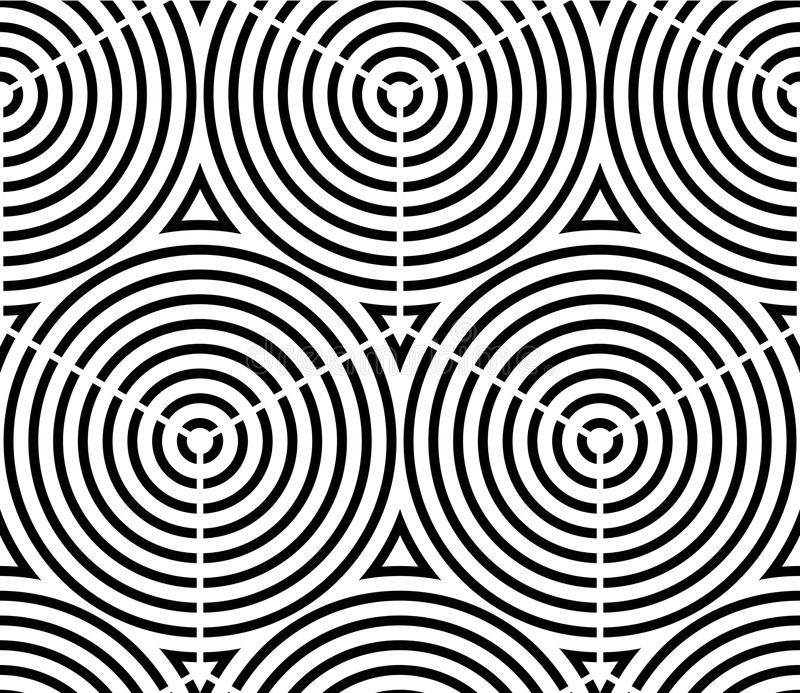 Modelo ornamental óptico inconsútil con el geome tridimensional stock de ilustración