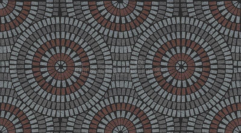 Modelo ornamental en el patio que pavimenta textura variada fotografía de archivo libre de regalías