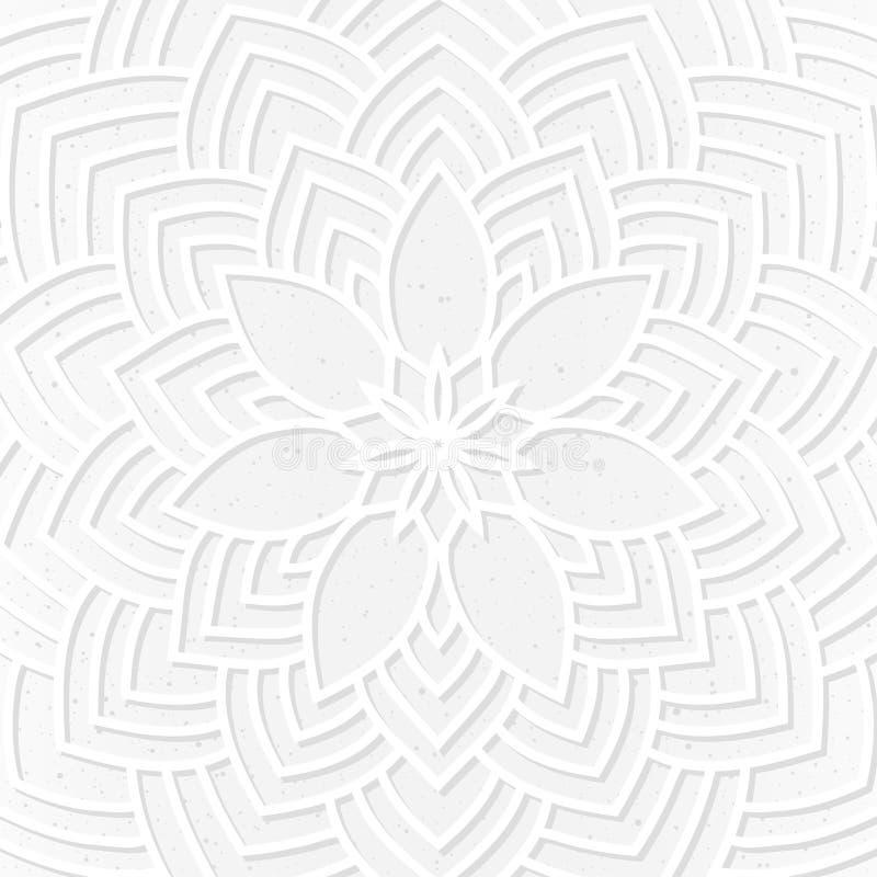 Modelo ornamental exhausto del cordón de la mano para la tarjeta del vintage del diseño, invitación del banquete de boda stock de ilustración
