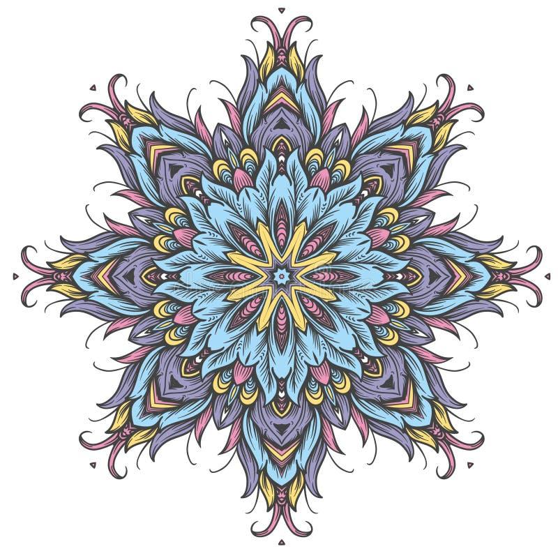 Modelo ornamental redondo libre illustration