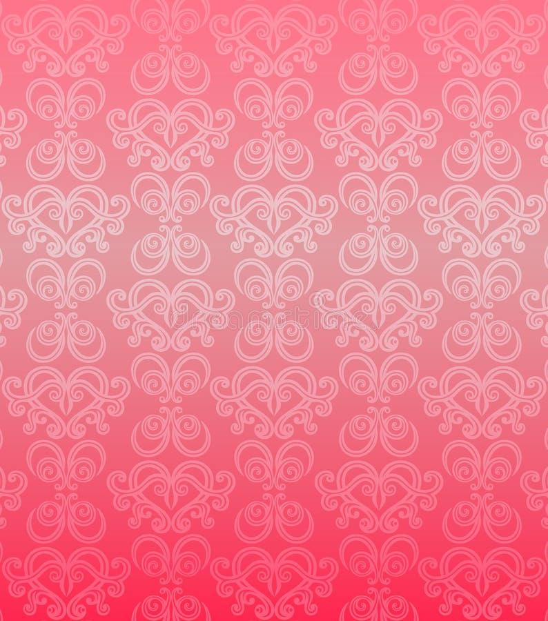 Modelo ornamental rosado de lujo stock de ilustración