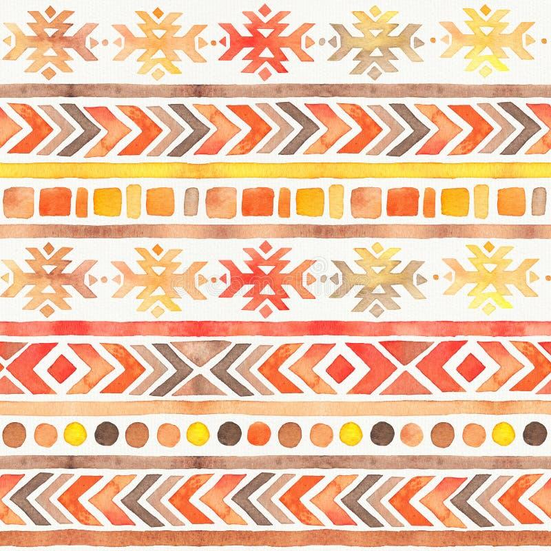 Modelo ornamental tribal de Boho de la acuarela incons?til libre illustration