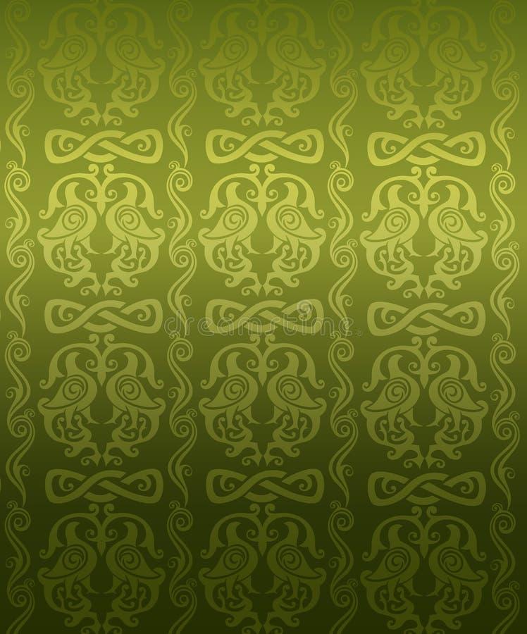 Modelo ornamental verde stock de ilustración