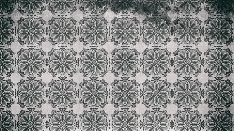 Modelo oscuro de Gray Vintage Decorative Ornament Wallpaper libre illustration
