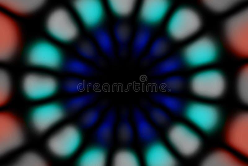 Modelo oscuro del círculo radial multicolor imagenes de archivo