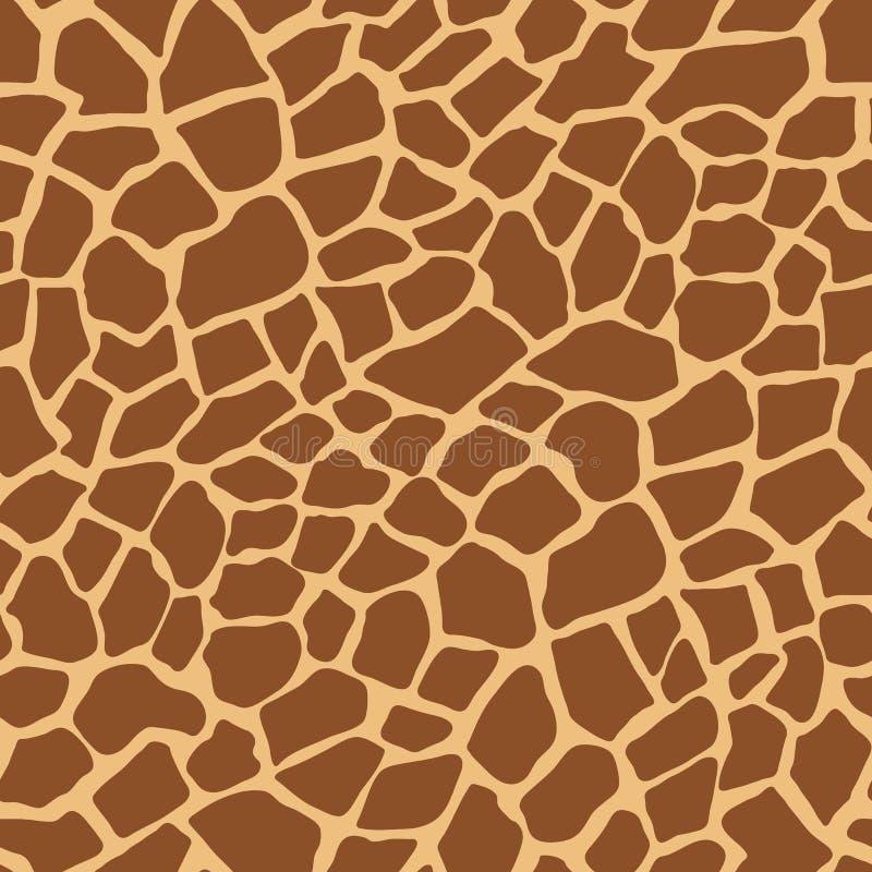 Modelo oscuro del vector del estampado de animales de la jirafa stock de ilustración
