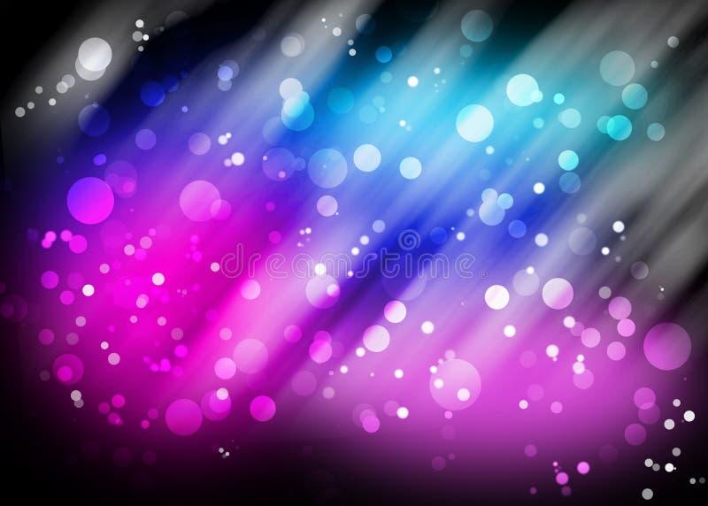 Modelo púrpura de las luces de Bokeh stock de ilustración