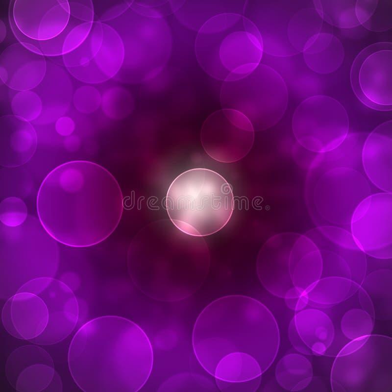 Modelo púrpura del bokeh libre illustration