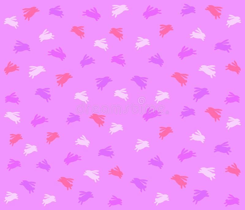 Modelo púrpura del fondo del conejito de pascua libre illustration