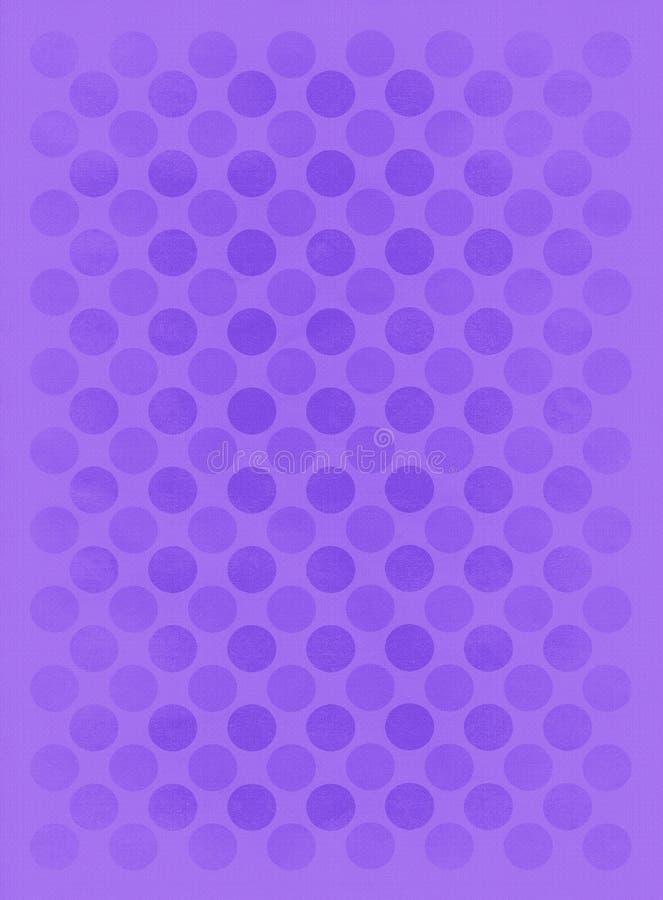 Modelo púrpura descolorado de los círculos stock de ilustración