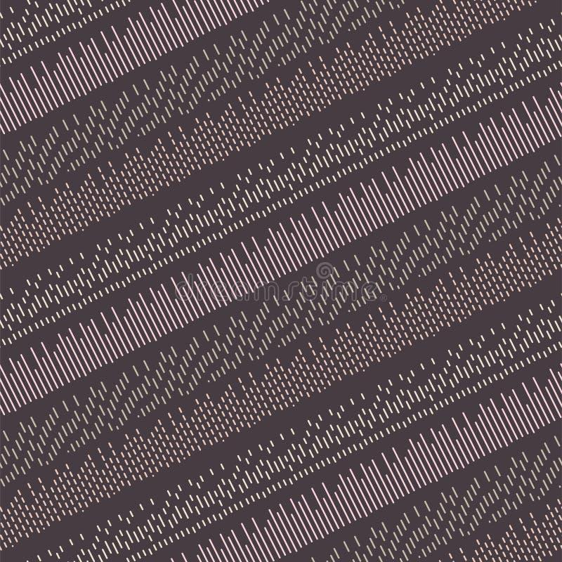 Modelo púrpura inconsútil del vector diagonal de las puntadas ilustración del vector