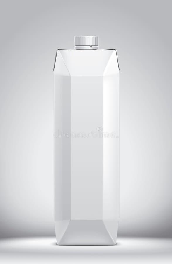 Modelo para bebidas de empacotamento da caixa versão foto de stock