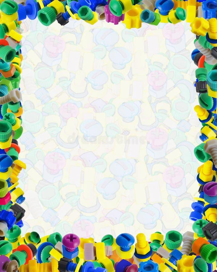 Modelo para el certificado cómico del bebé - coloree los juguetes foto de archivo libre de regalías