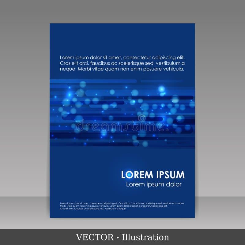 Modelo para el folleto de publicidad. stock de ilustración