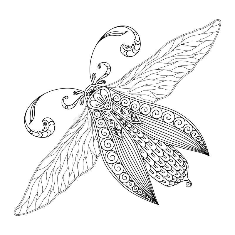 Modelo Para El Libro De Colorear Henna Mehendi Tattoo Style Doodles ...