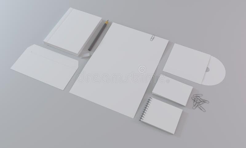 Modelo para a identidade de marcagem com ferro quente foto de stock