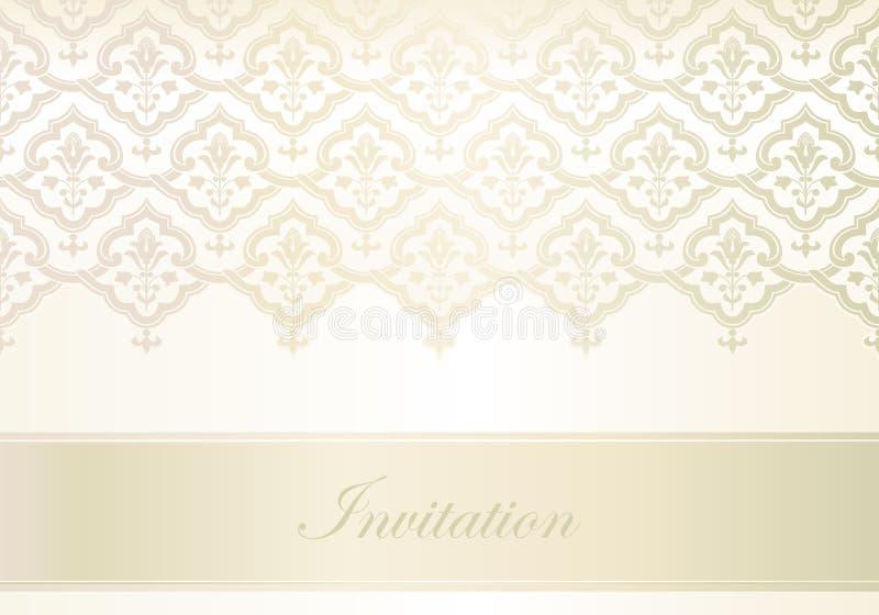 Modelo para la tarjeta de la invitación libre illustration