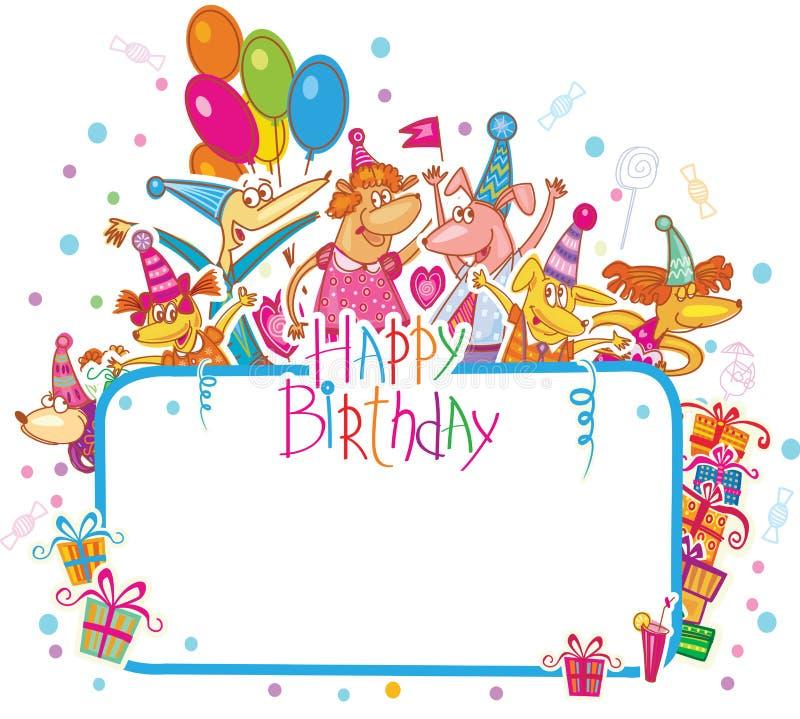 Modelo para la tarjeta del feliz cumpleaños libre illustration