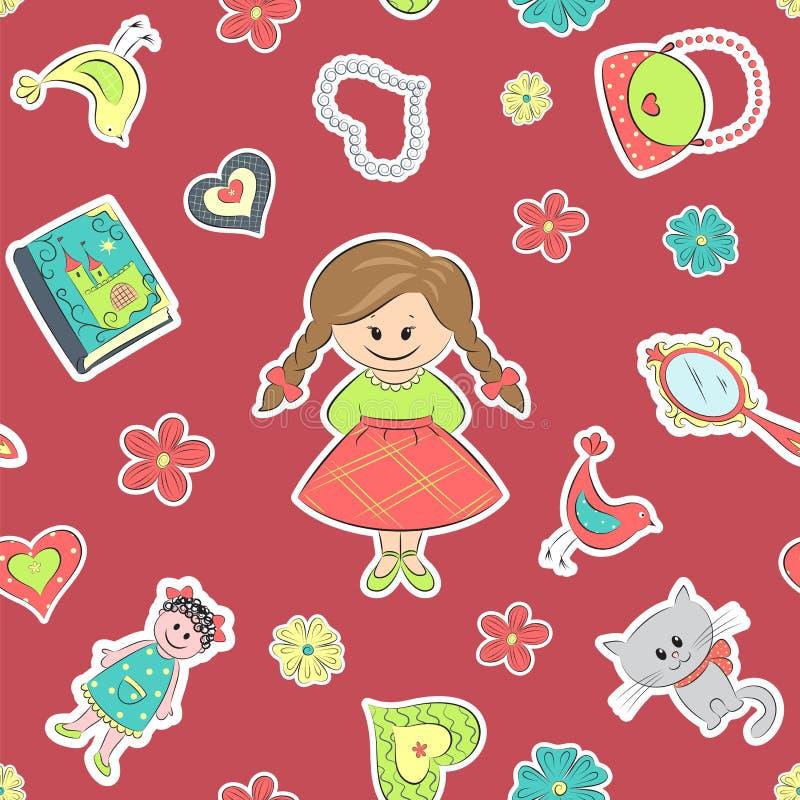Modelo para las niñas stock de ilustración