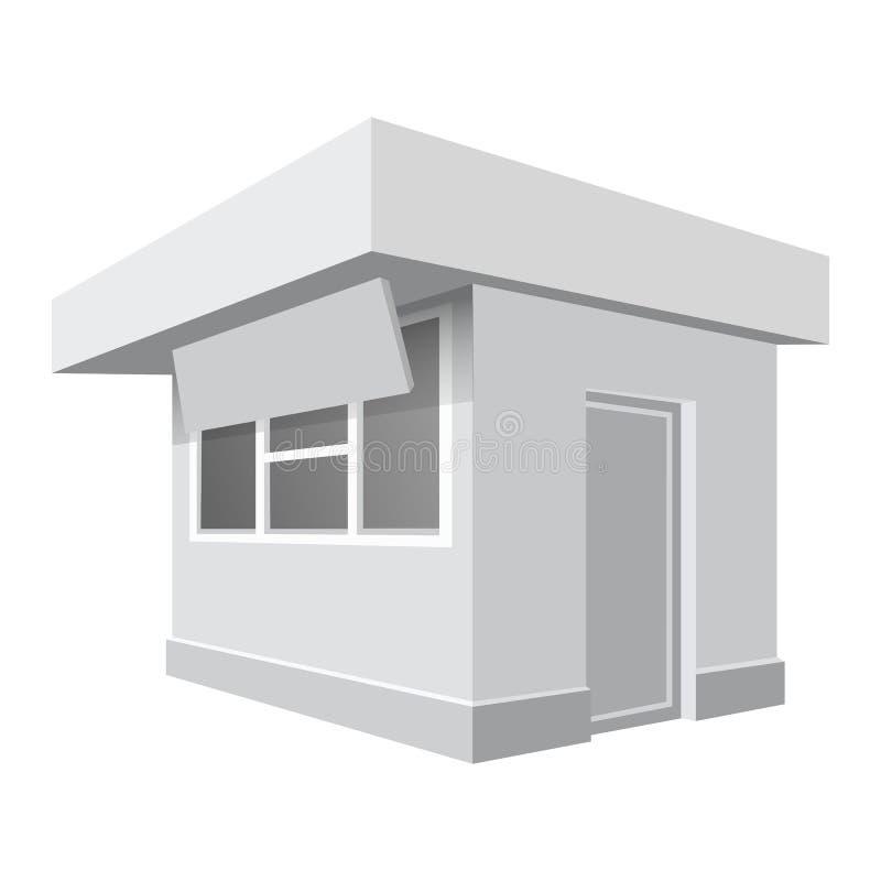Modelo pequeno da loja, estilo realístico ilustração do vetor