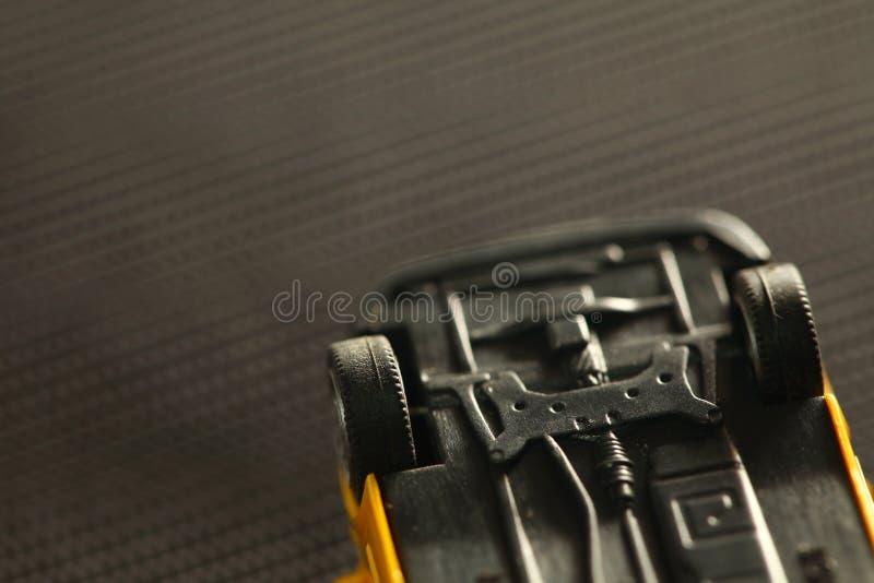 Modelo plástico miniatura del coche del juguete imagen de archivo libre de regalías