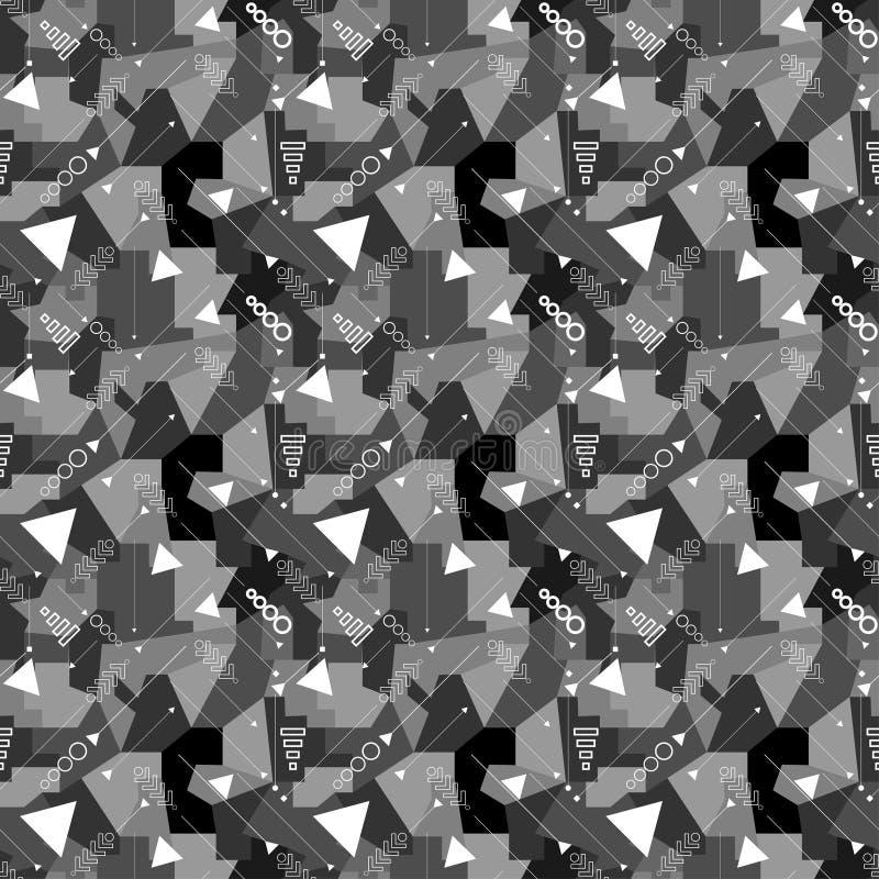 Modelo poligonal de la tecnología geométrica inconsútil textura con estilo moderna Caótico geométrico abstracto fotos de archivo libres de regalías