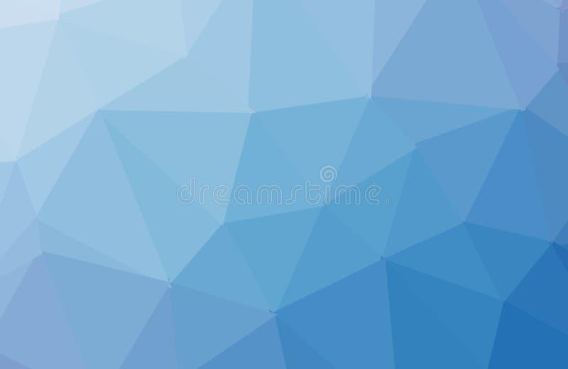 Modelo poligonal del vector azul claro, verde Ejemplo abstracto colorido con pendiente El modelo elegante se puede utilizar como  stock de ilustración