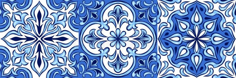 Modelo portugués de la baldosa cerámica del azulejo ilustración del vector