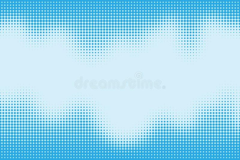 Modelo punteado del tono medio como fondo ilustración del vector
