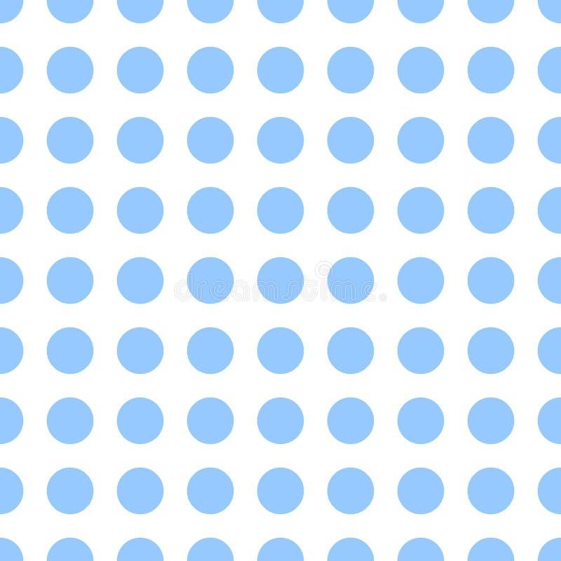 Modelo punteado inconsútil Fondo azul del lunar Textura abstracta con los puntos Diseño gráfico minimalistic simple stock de ilustración
