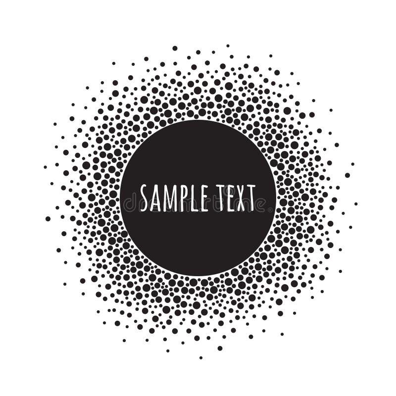 Modelo punteado redondo con el espacio para el texto Fondo blanco y negro del extracto del vector libre illustration