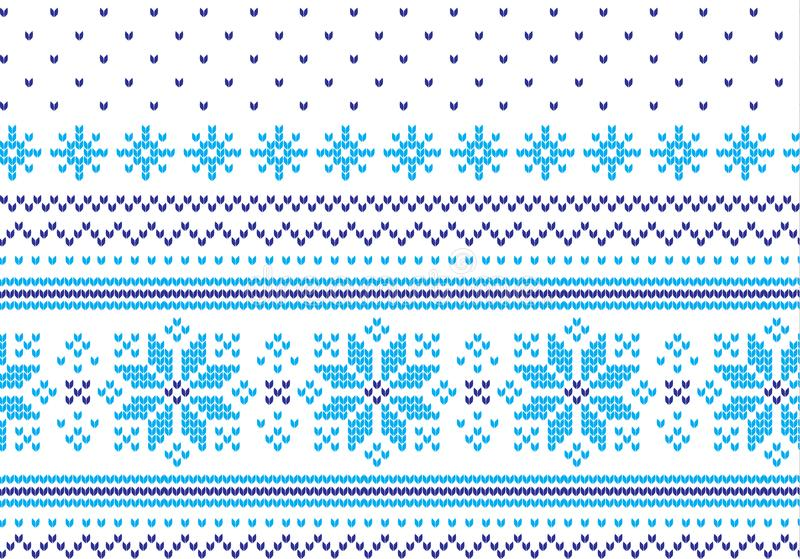 Modelo que hace punto de las vacaciones de invierno con árboles de navidad Diseño del suéter de la Navidad que hace punto Textura stock de ilustración