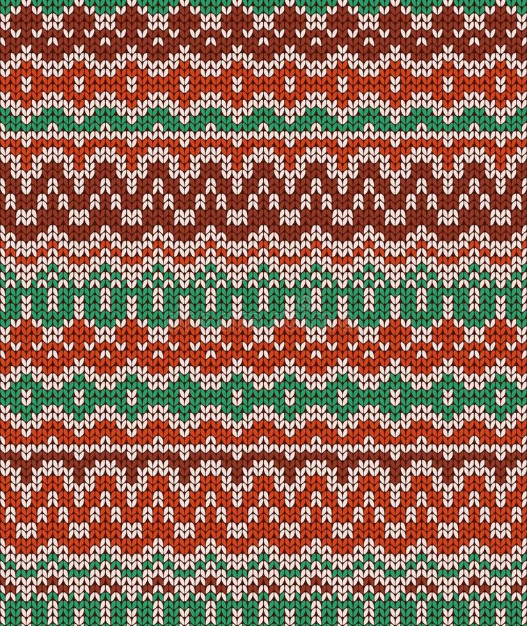 Modelo que hace punto inconsútil colorido Textura tradicional caliente Papel pintado del invierno libre illustration