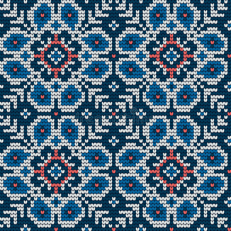 Modelo que hace punto tradicional para el suéter feo libre illustration