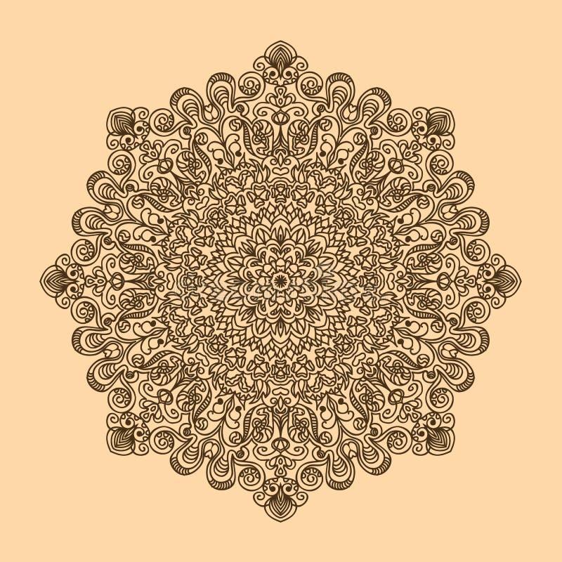 Modelo radial de los rizos y de los espirales grandes y color complejo de h libre illustration