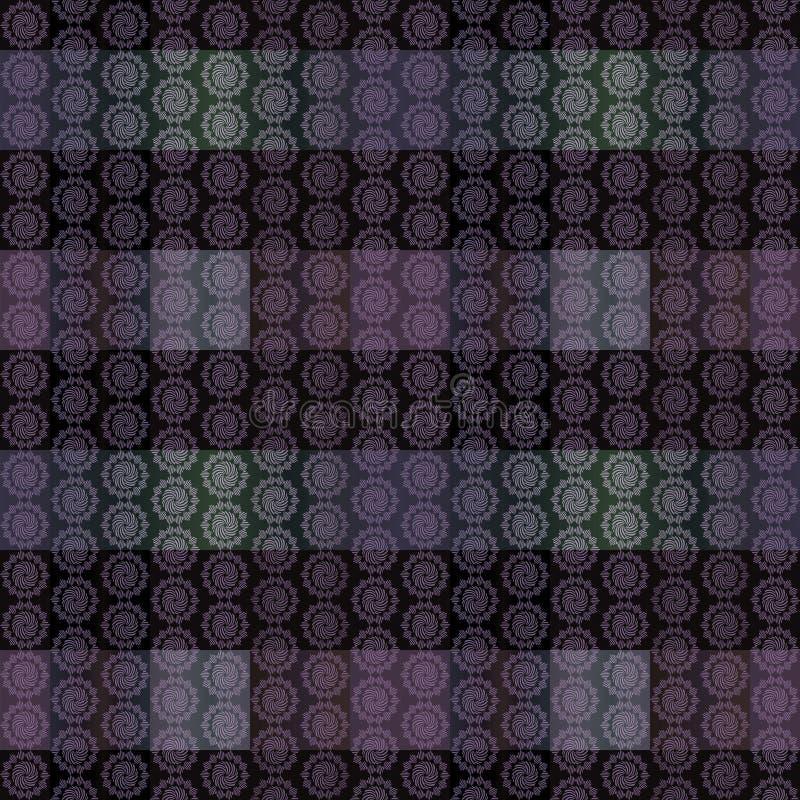 Modelo rayado geométrico inconsútil del satén en el color gris-violeta stock de ilustración