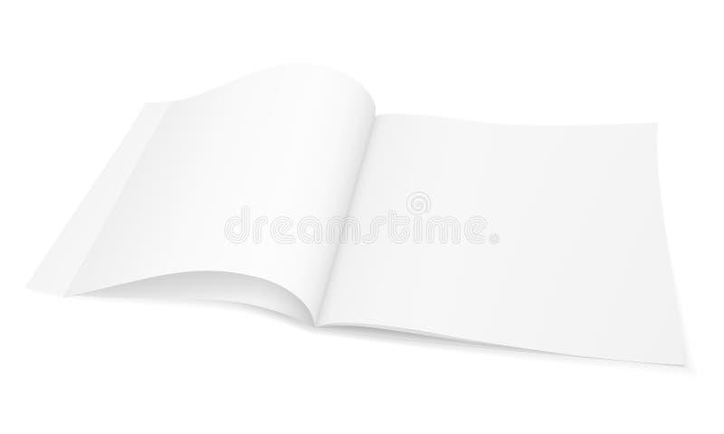 Modelo realístico de um compartimento da brochura, folheto da imagem do vetor, caderno ilustração do vetor
