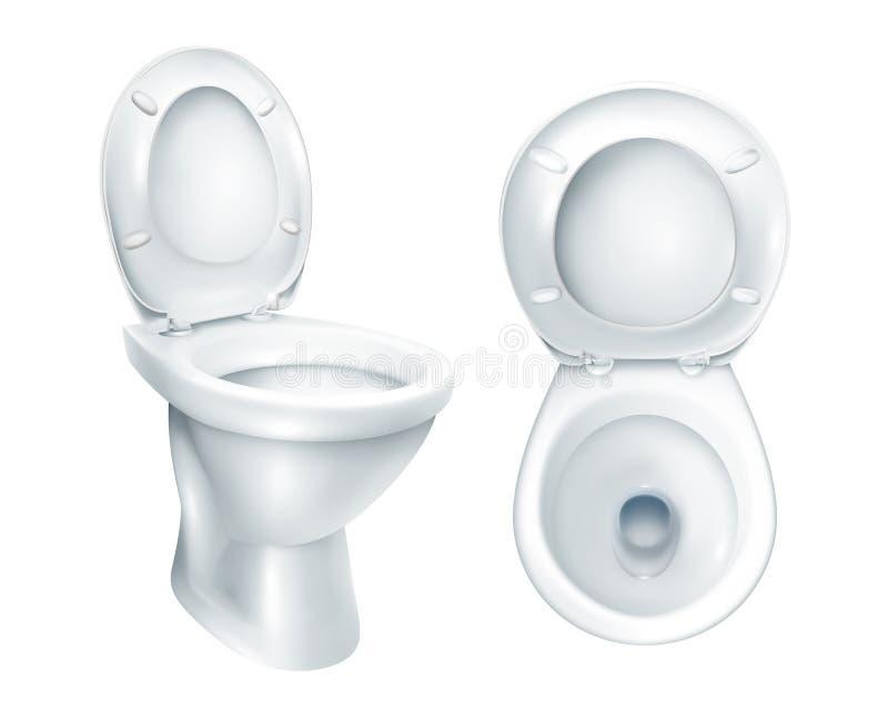 Modelo realístico do toalete ilustração royalty free