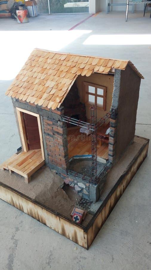 Modelo real con los detalles de la construcción foto de archivo