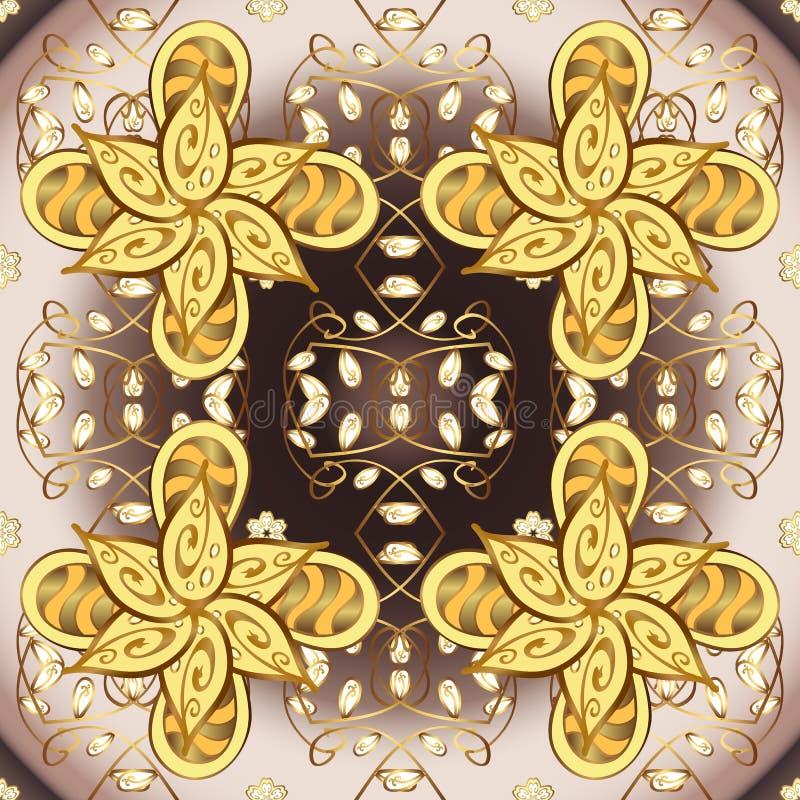 Modelo real floral medieval ornamental ilustración del vector