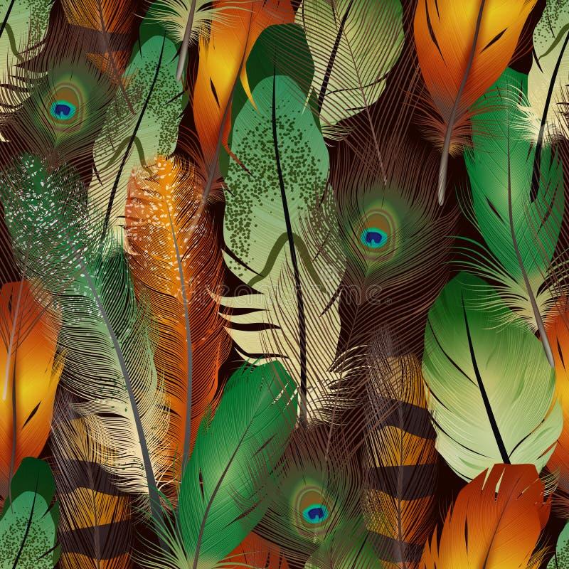Modelo realista de las plumas libre illustration