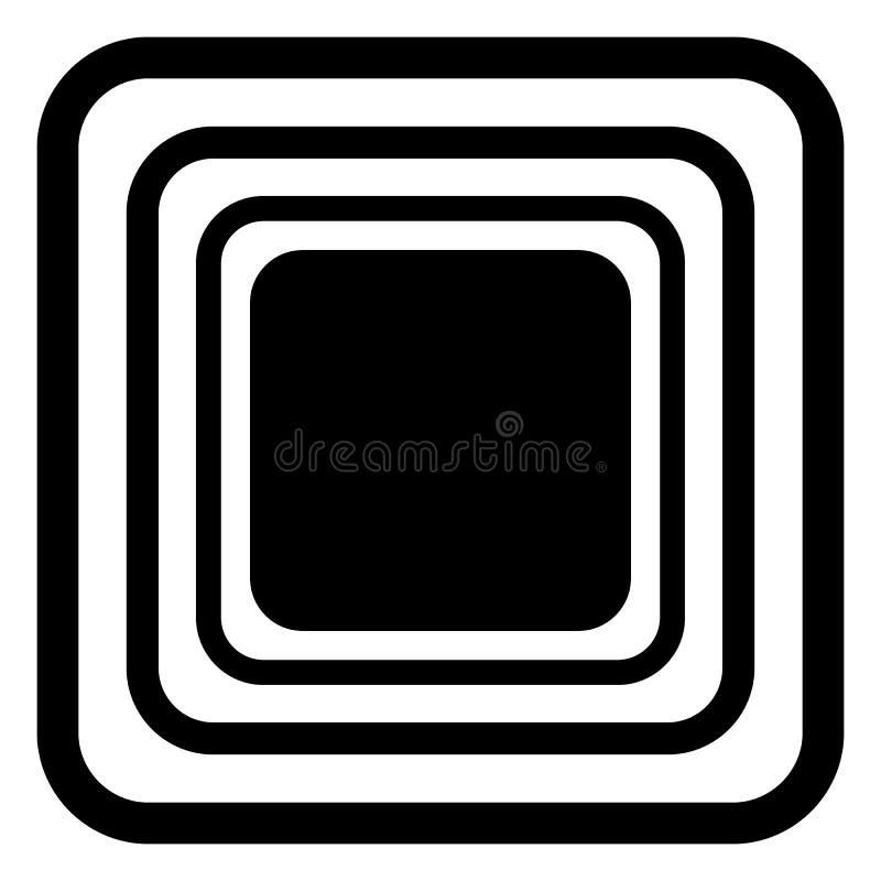 Modelo redondeado azul inconsútil del rectángulo del vector textura sin fin blanco y negro fondo geométrico abstracto del ornamen ilustración del vector