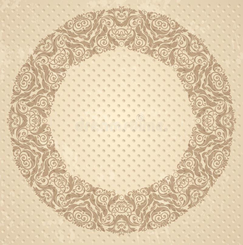 Modelo redondo ornamental stock de ilustración