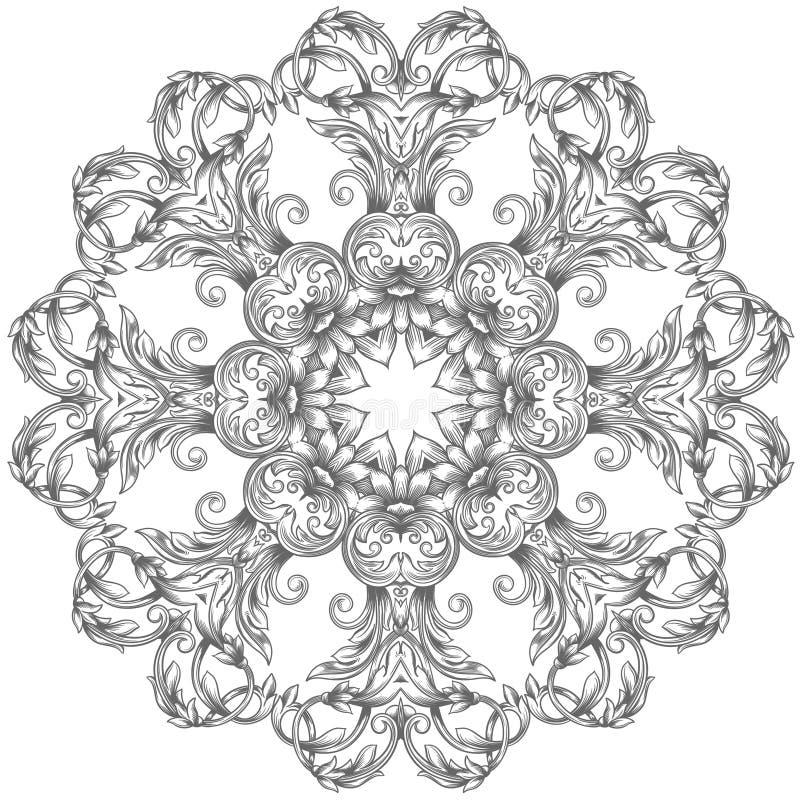 Modelo redondo ornamental del cordón ilustración del vector