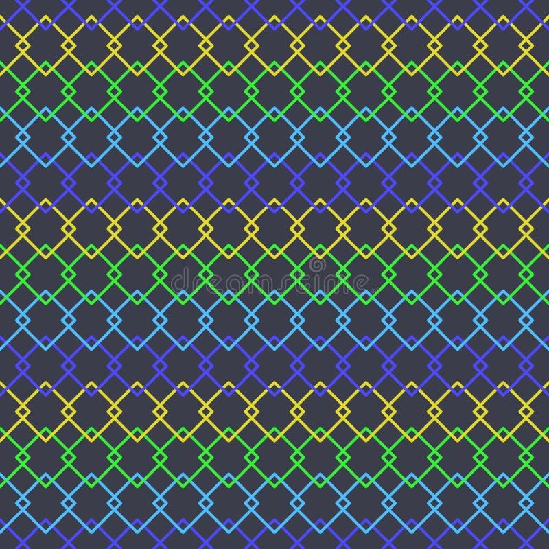 Modelo repetidor inconsútil geométrico colorido del vector El extracto embaldosa el fondo ilustración del vector
