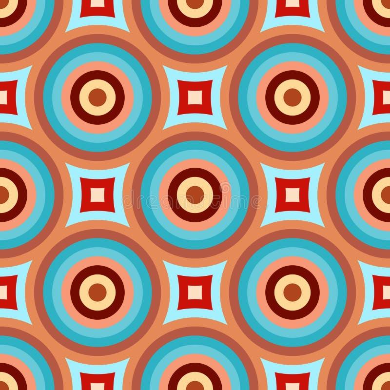 Modelo retro abstracto ilustración del vector