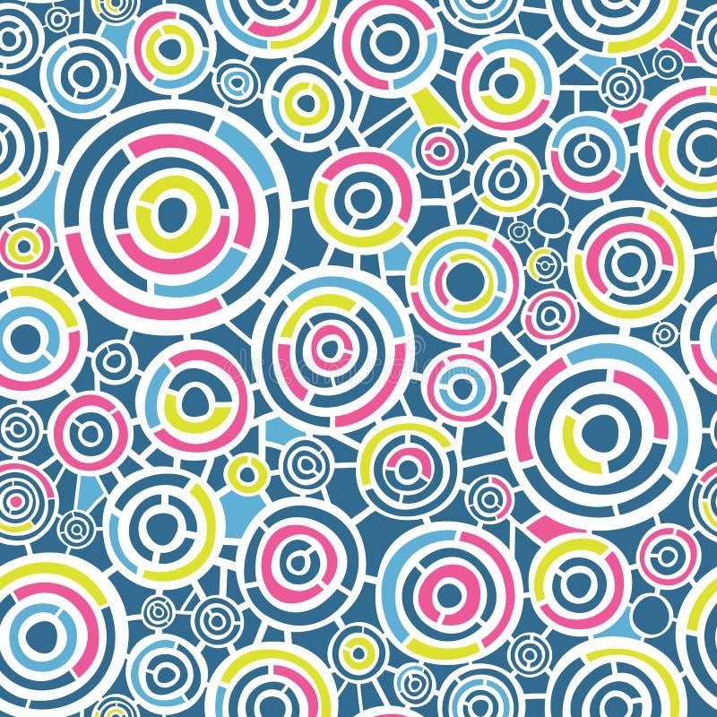 Modelo retro abstracto con los círculos libre illustration