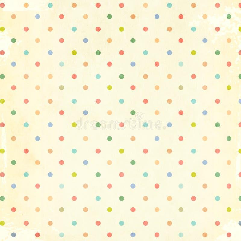 Modelo retro con los puntos y la textura del papel fotografía de archivo libre de regalías