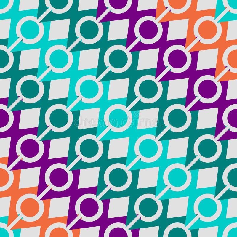 Modelo retro de formas geométricas Bandera colorida del mosaico fondo del inconformista con el lugar para su texto triángulo stock de ilustración
