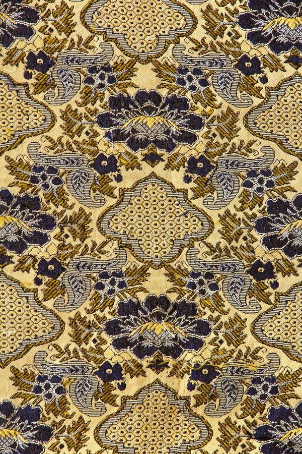 Modelo retro de la tela de la tapicería imagen de archivo
